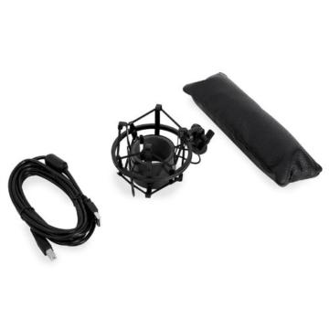 Auna MIC-900B USB Kondensator Mikrofon für Studio-Aufnahmen inkl. Spinne (16mm Kapsel, Nierencharakteristik, 320Hz - 18KHz) schwarz -