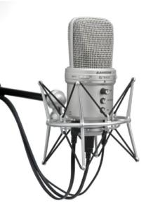 Samson G-Track USB Studiomikrofon mit integriertem Audiointerface, Stativ und Cakewalk Sonar LE -